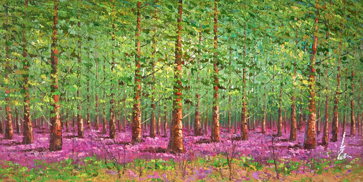 Beneath the Trees V by inam -  sized 61x31 inches. Available from Whitewall Galleries